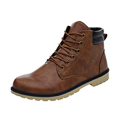 Homme cuir chaussures martin bottes Hommes haut