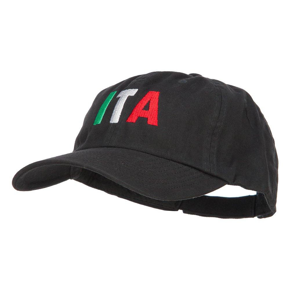 e4Hats.com Italy ITA Flag Embroidered Low Profile Cap