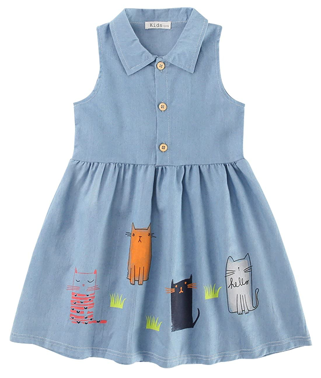 7bdfcc372d523 100% cotton fabric,breathable and comfortable to wear in summer. and better  protecting the skin of girls. Special pattern and design, cartoon animal  dress, ...