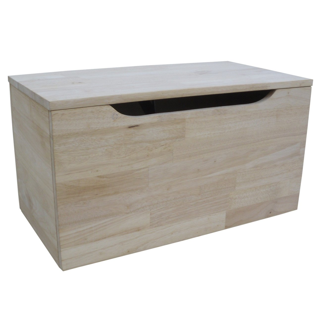 Unfinished Wood 22'' Footlocker Storage Trunk