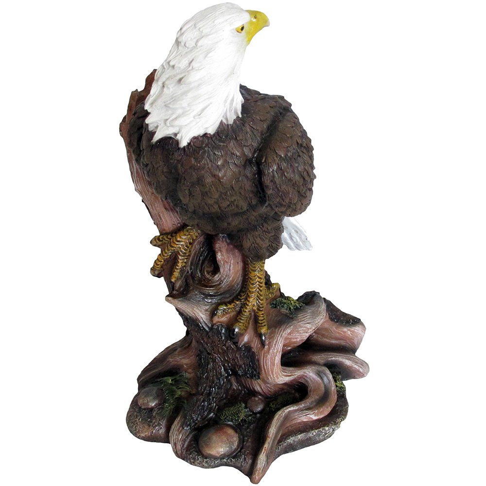 American Bald Eagle Statue in Wild Bird Sculptures /& Figurines As Patriotic Decorations or Office and Rustic Lodge Home Decor and Decorative Gifts for Eagles Fans DWK Corp.