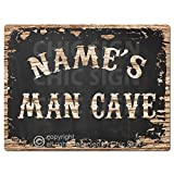 NAME'S MAN CAVE Custom Personalized Tin Chic Sign Rustic Vintage style Retro Kitchen Bar Pub Coffee Shop Decor 9