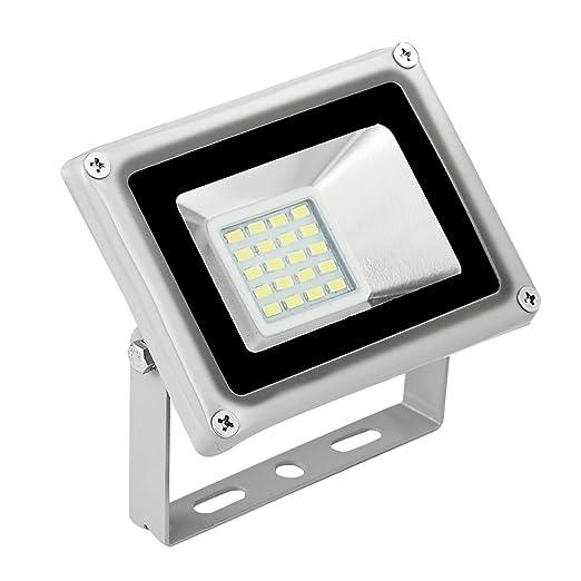 Foco proyector LED 10W para exteriores, 700LM, Blanco frio 6000 ...
