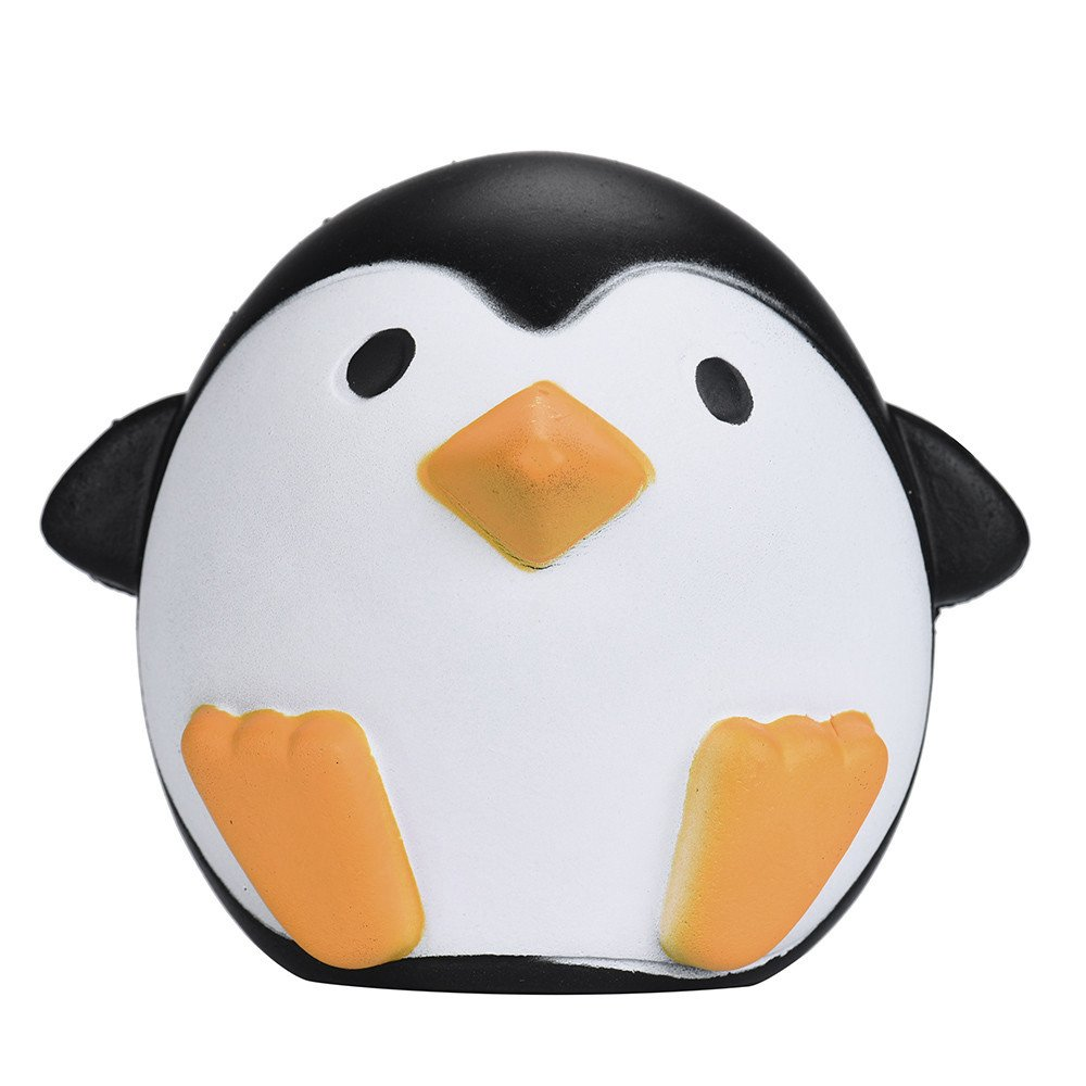 F_topbu Squishy Toy Jumbo Squeeze Toys Kawaii Cartoon Cute Penguins Cream Scented Slow Rising Squishies Charms for Kid and Adults, Funny Lovely Toy Stress Relief Toy Cell Phone Straps Key Chains Toy
