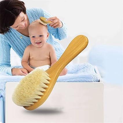 Cepillo de pelo de bebé de madera para recién nacidos y niños ...
