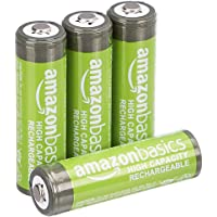 4-Pack AmazonBasics AA High-Capacity Rechargeable Batteries (Pre-charged)