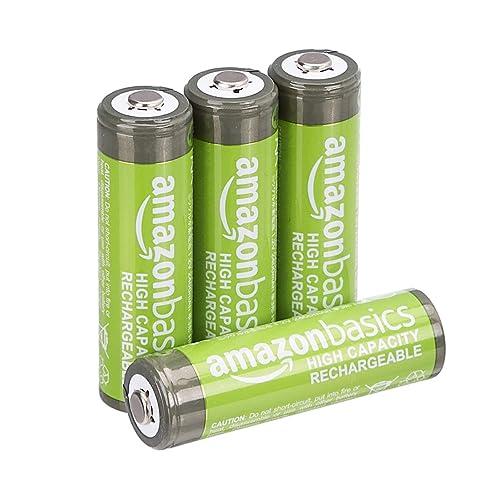 Amazonベーシック 充電池 高容量充電式ニッケル水素電池単3形4個セット