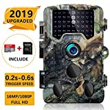 SOVACAM 【2019 Upgraded】 Trail Camera, 16MP 1080P 2.4' LCD HD Deer Hunting Camera with 46pcs 850nm Low-Glow IR LEDs and 120° PIR Sensors,Up to 0.2s Trigger time,IP 56 Waterproof