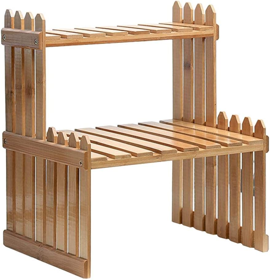 Estantes para plantas, soporte de flores, soporte de bambú, soporte de almacenamiento para plantas, 2 niveles para el hogar, oficina o escritorio: Amazon.es: Bricolaje y herramientas
