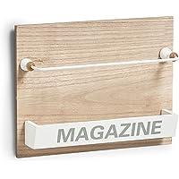 Zeller Nordic Magazin Soporte, MDF/Metal, Natural