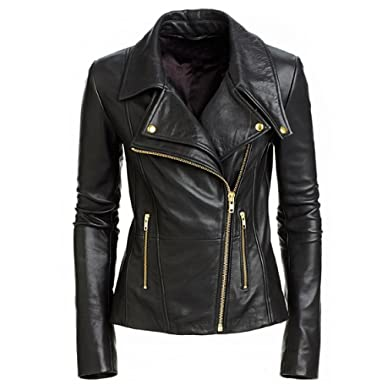 Clothing, Shoes & Accessories Strict Black Leather Jacket Highly Polished Men's Clothing