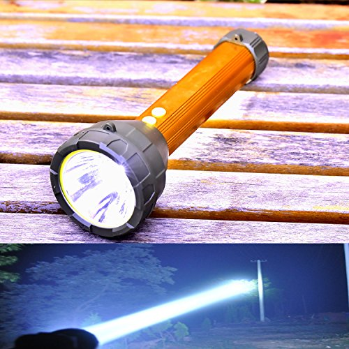 Odear Very Bright Large Flashlight Multi-function Digital LED Spotlight Rechargeable Outdoor Searchlight for Home Camping Reading Party Hunting Fishing Walking Dog Search