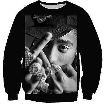 MOIMK Unisex Vida Rap Hip-Hop 2Pac Artista Tupac Rap Sudaderas con Capucha 3D impresión Ropa Sudadera Pullover,5XL: Amazon.es: Deportes y aire libre