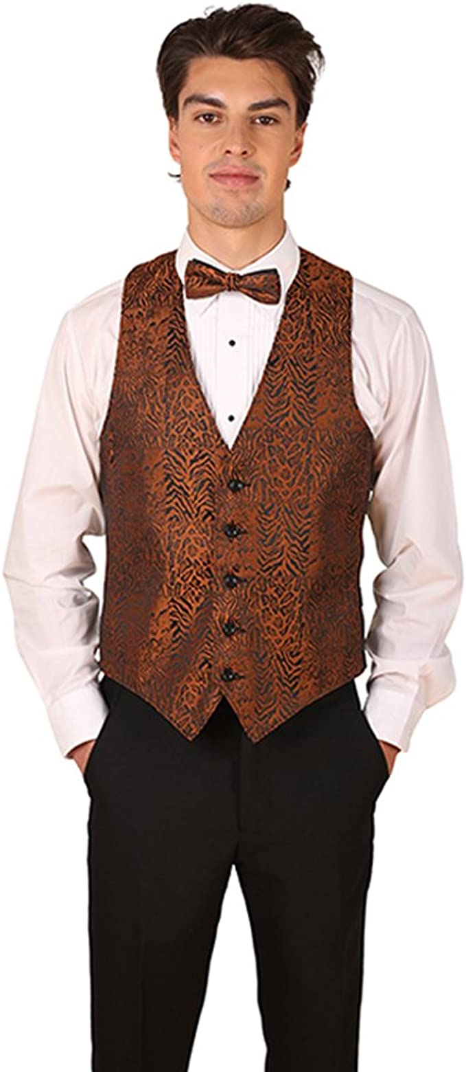 Cheetah Print Vest and Bow Tie