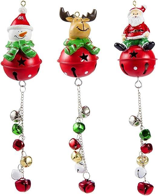 Christmas Holiday Door Knob Hanger Plush Puppy dog Spring Body Jingle Bells New