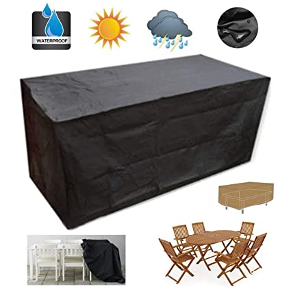 Waterproof Cube Squa//Rectangle Patio Cover for Table Chair Set Sofa Rattan Bench