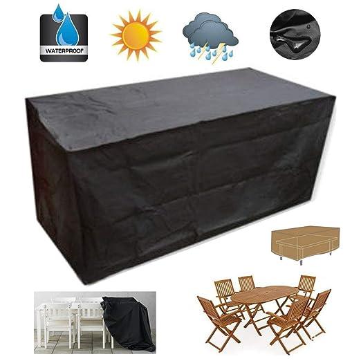 Do4U Funda para Mesa de jardín Muebles de jardín Cubre Impermeable ...