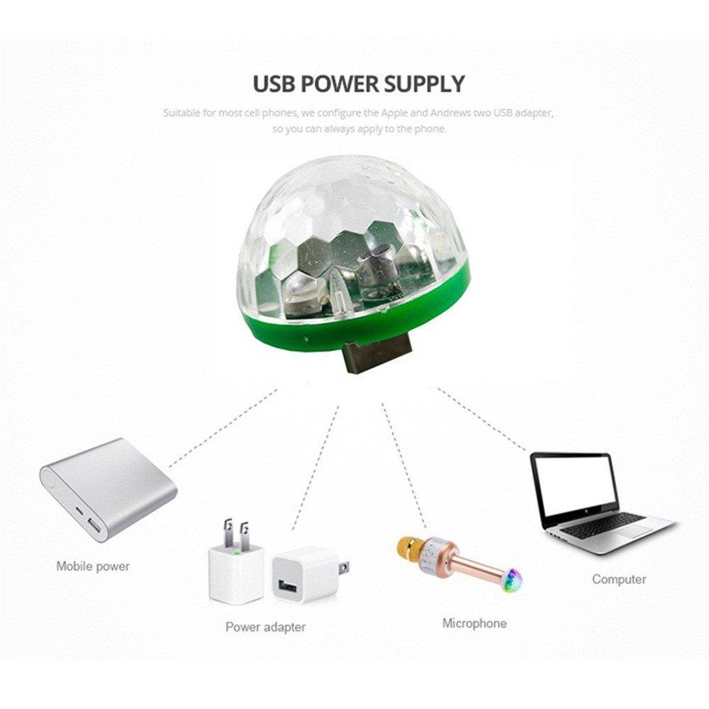 Amazon com: Feccile Portable Voice Control LED Stage Light