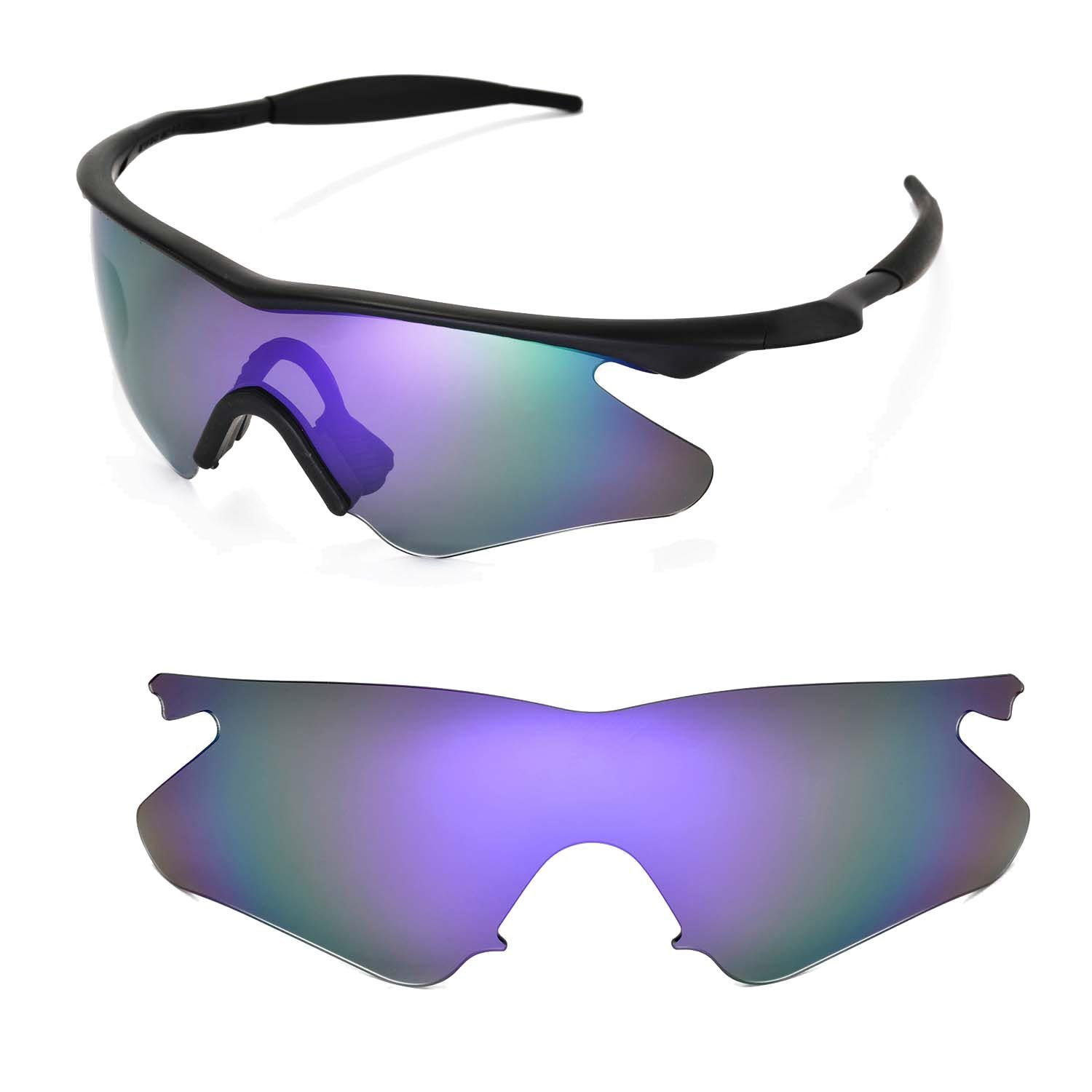 3f34b07dd3 Walleva Replacement Lenses for Oakley M Frame Heater Sunglasses - Multiple  Options Available (Purple Coated - Polarized)  Amazon.in  Clothing    Accessories