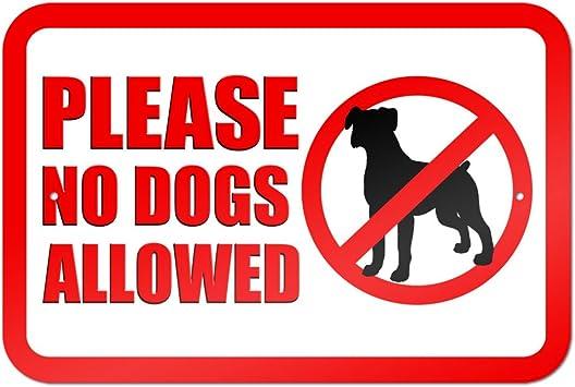 Amazon.com: Por favor no Perros Allowed 9