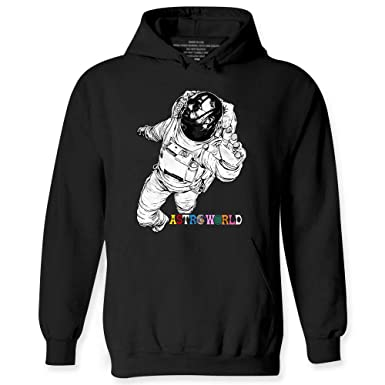 9abf526e8520 Amazon.com: wintertee Astroworld Astronaut Space Music Astronomy Greeting  Hoodie: Clothing