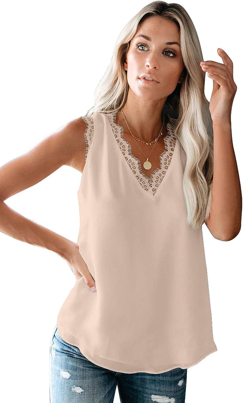 Sleeveless V-neck lace crochet blouse\u00a0Black Small