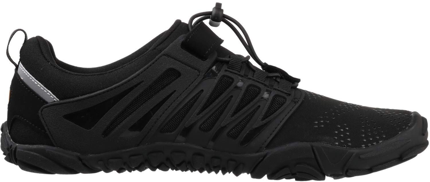WHITIN Men's Trail Running Shoes Minimalist Barefoot 5 Five Fingers Wide Width Toe Box Gym Workout Fitness Low Zero Drop Male Walking Trainer Cross Training Crossfit Black Size 8 by WHITIN (Image #5)