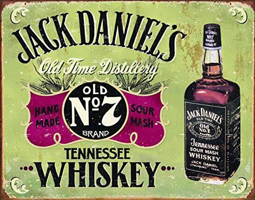 - Desperate Enterprises Jack Daniels Whiskey - Hand Made Tin Sign, 16