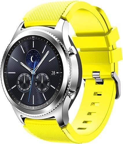 Amazon.com: Correa de repuesto para reloj Samsung Gear S3 de ...