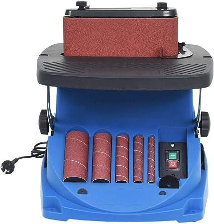 vidaXL Levigatrice Mandrino Oscillante Nastro 450W Blu Lucidatrice Sabbiatrice