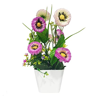 Arvana Flower Vase With Artificial Flowers For Home Office Decoration Big