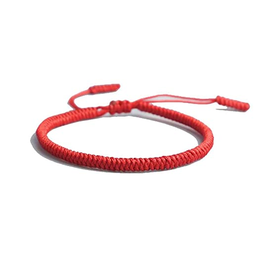 ba6ecce94852a Image Unavailable. Image not available for. Color  19 Colors Tibetan  Buddhist Love Lucky Charm Tibetan Bracelets   Bangles for Women Men Handmade  Knots
