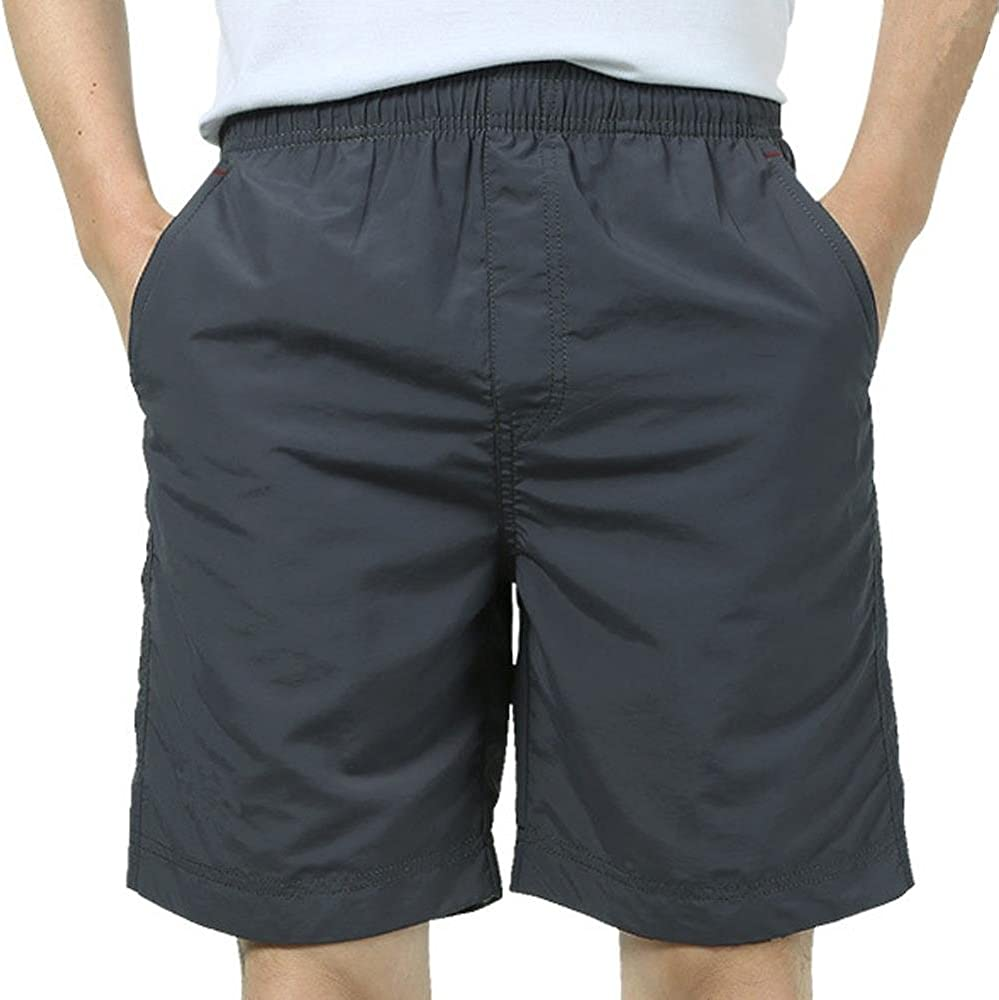 MUST WAY Men's Straight Comfort Quick Dry Golf Classic Fit Solid Pleat Front Shorts
