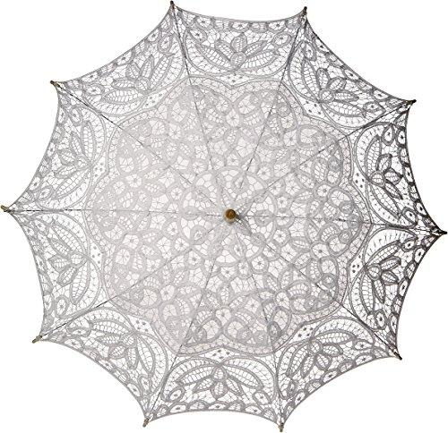 Luna Bazaar Cotton Lace Paper Parasol (31-Inch, - Carriage Lace