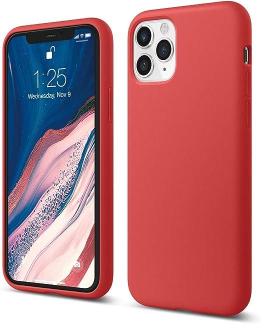 """elago Coque iPhone 11 Pro Silicone Compatible avec Apple iPhone 11 Pro (5.8"""") Silicone Liquide, Doublure en Microfibre Douce, Raised Lip pour Écran"""