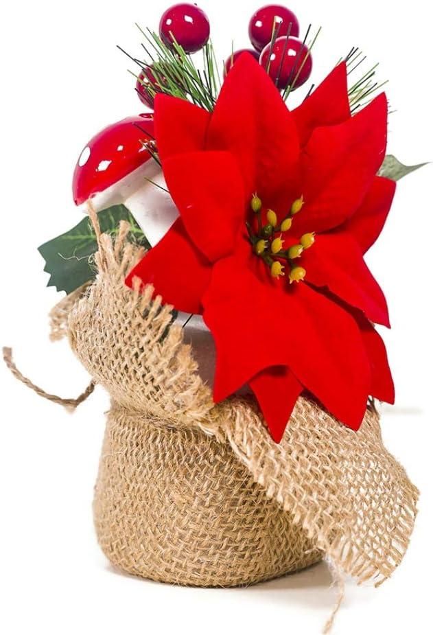 Sunshay D/écoration de No/ël 6Inch Grand Arbre de No/ël Artificiel avec Baies et d/écoration de Vacances /à la Maison de pin