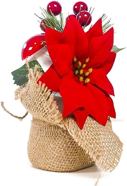 Árbol de Navidad en miniatura de con bayas decoración de cono de ...