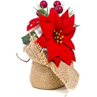 Árbol de Navidad en miniatura de con bayas