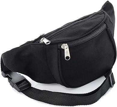 Black Fabric Bum Bag/Fanny Pack - Festivals/Club Wear/Holiday ...