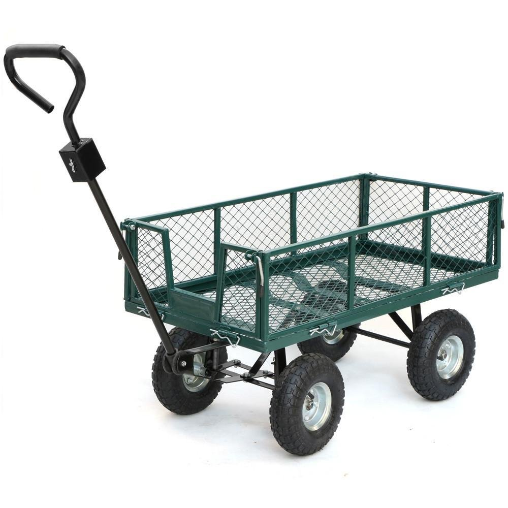 Amazon.com: Yaheetech Steel Utility Garden Cart With RemovableSides, 400 Lb  Capacity: Home U0026 Kitchen