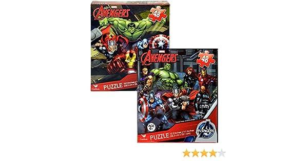 Bundle of 2 Unique 48pcs Marvel Avengers Puzzles for Kids. 10