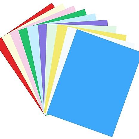 Cartulina de papel, 100 hojas, 10 colores vivos, tamaño A4 ...