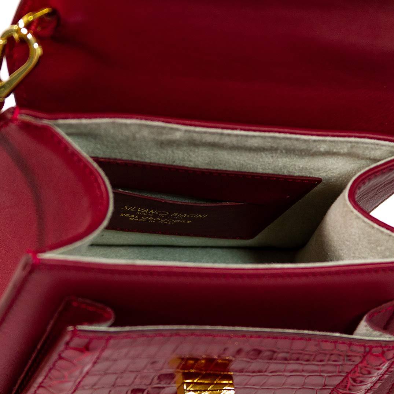 Amazon.com: tina Firenze diseño italiano Cartier rojo python ...