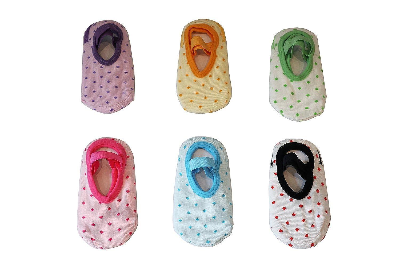 JT-Amigo - Calzini Antiscivolo Invisibili - Bambini e Neonati - Confezione da 6 Paia Kids-Sock-Set8