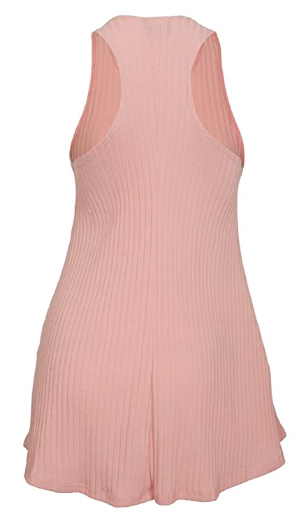 61620446d5c7d eVogues Plus Size Ribbed Sleeveless Racerback Tunic Top at Amazon Women s  Clothing store