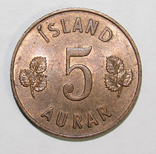1946 IS Iceland 5 Aurar Coin 5a AU