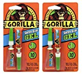 Gorilla Super Glue Gel, 6 g, Clear, (Pack of 2)