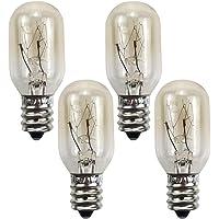 SOLUSTRE 4 adet E12 15 W fırın ampulü, şeffaf mikrodalga fırın yedek lambalar, ısıya dayanıklı tungsten ampul, buzdolabı…