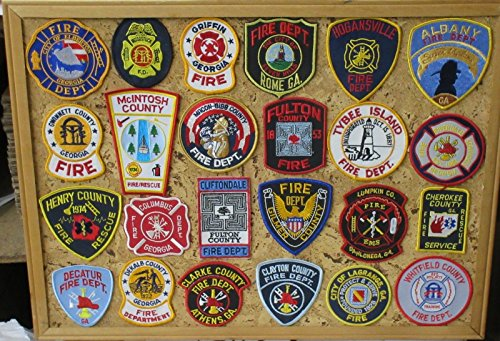 GEORGIA FIRE/RESCUE PATCHES! SET ONE! LOT OF 24!