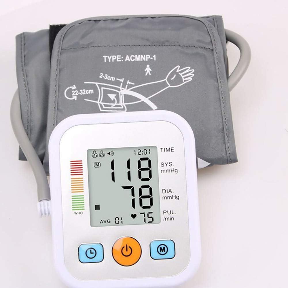 Tensiómetro de muñeca,Tensiómetro de Brazo,Portátil Totalmente Automático Tipo de Banda para Brazo Digital,Totalmente Automático Presión Arterial,Dar lecturas de presión Arterial rápidas precisas